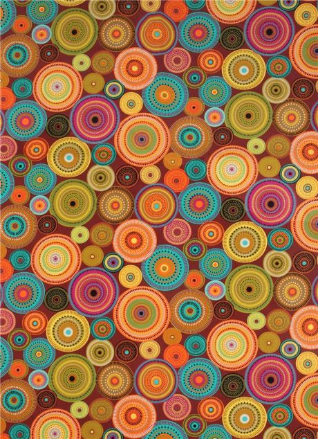 Northern Lights Fabric : Brown pattern circle fabric northern lights michael miller